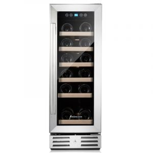 Kalamera 12 inch Wine Cooler Refrigerator 18 Bottle Built-in or Freestanding