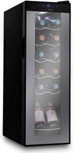 Nutrichef PKCWC120 Refrigerator-White & Red Chiller Countertop Cooler